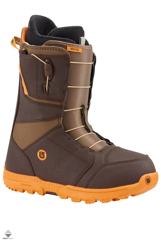 Buty Snowboardowe Burton Moto Brown Orange 104361022109 Snowboard Boots Boots Burton Moto