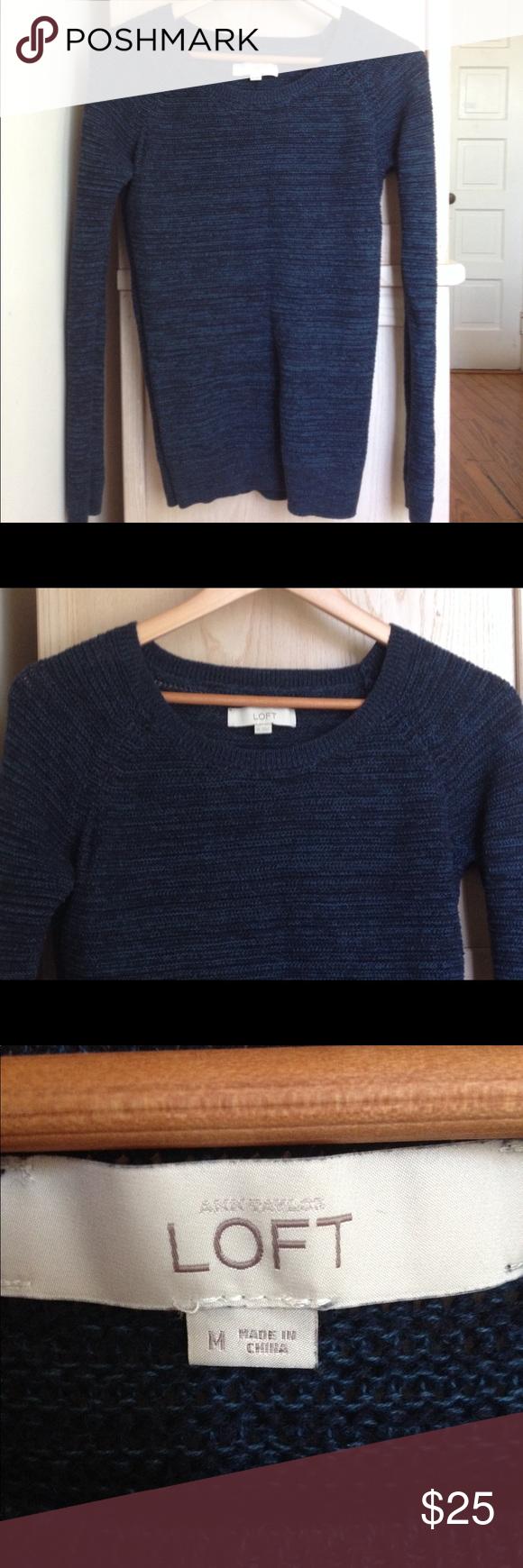 LOFT deep royal blue boyfriend sweater | Scoop neck, Royal blue ...