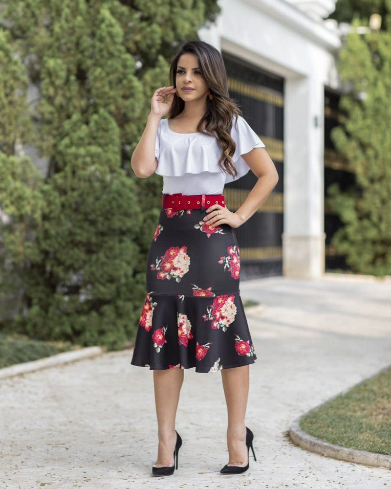 bad3adc6f Conjunto Estefhanie - Moda Evangélica - Flor de Amêndoa