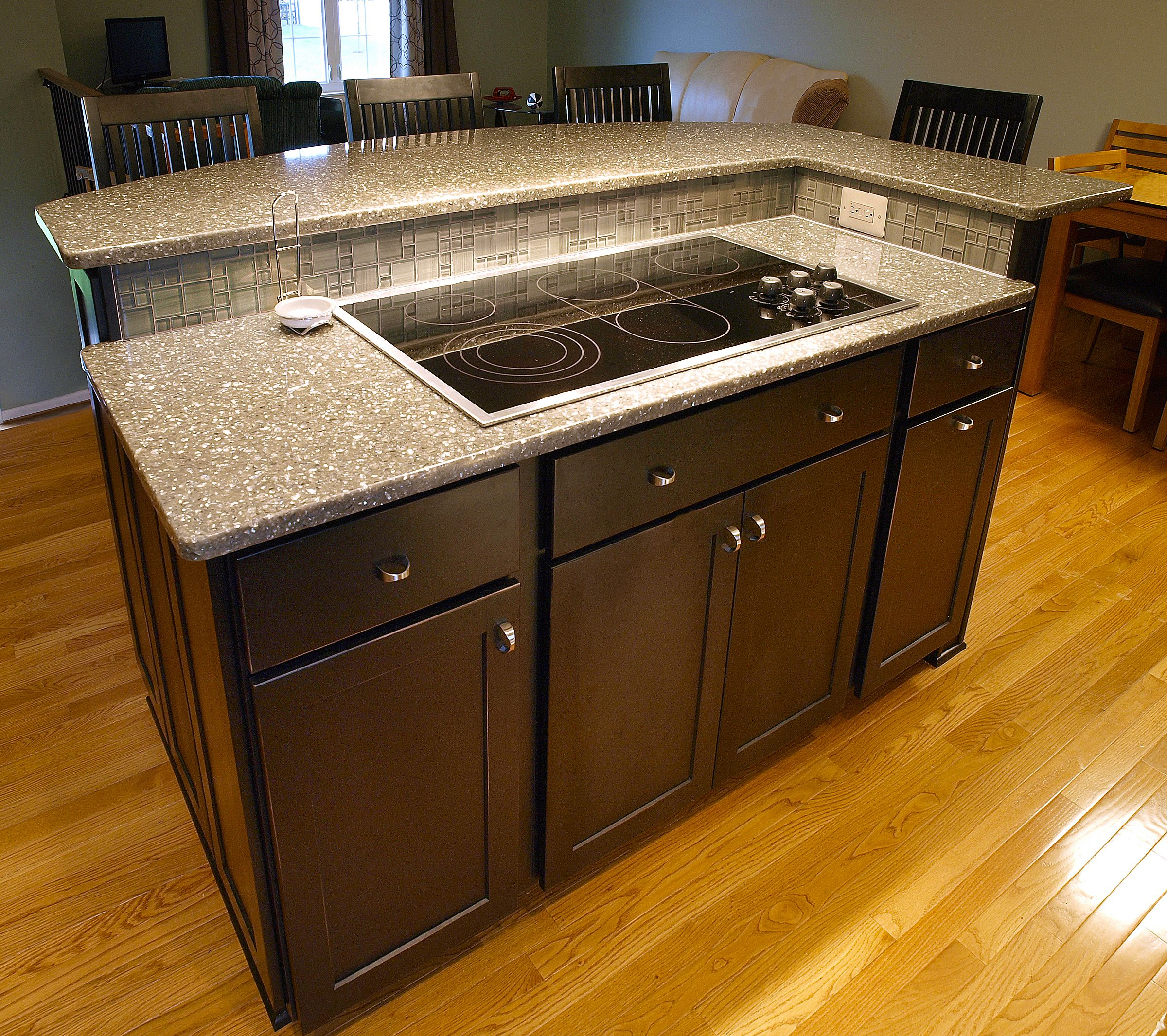 kitchen island with built in oven