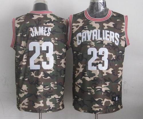 Cleveland Cavaliers #23 LeBron James Camo Fashion Jersey