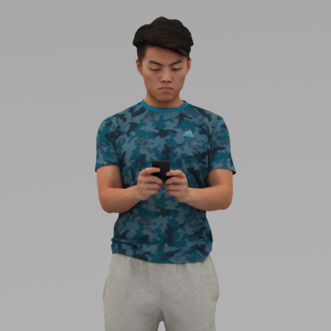 A Strong Young Man Standing Alone In Half Body Portrait Scan3dmall Man Standing Young Man Man