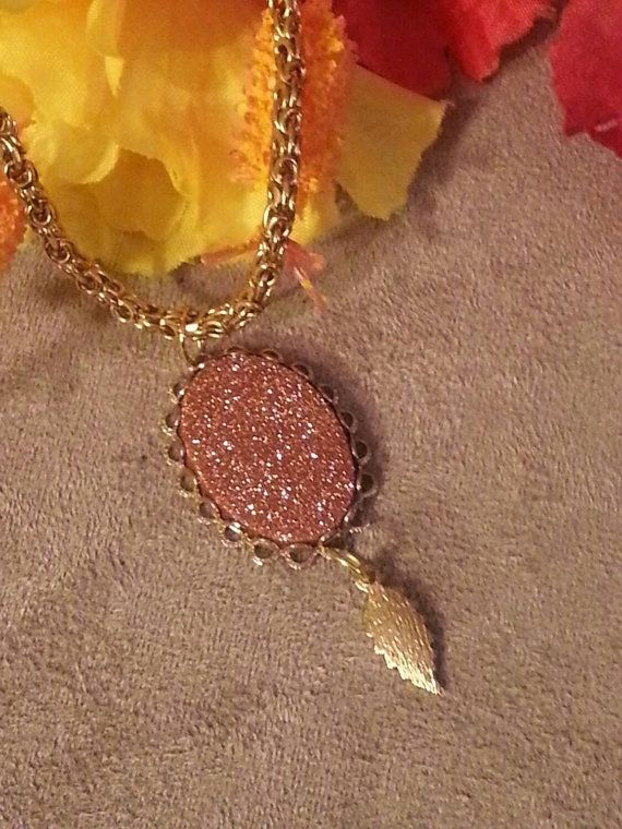 Check out this item in my Etsy shop https://www.etsy.com/listing/227092861/genuine-copper-flake-pendant-necklace