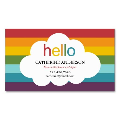 Over the rainbow mommy card calling card business card templates over the rainbow mommy card calling card business card templates reheart Choice Image