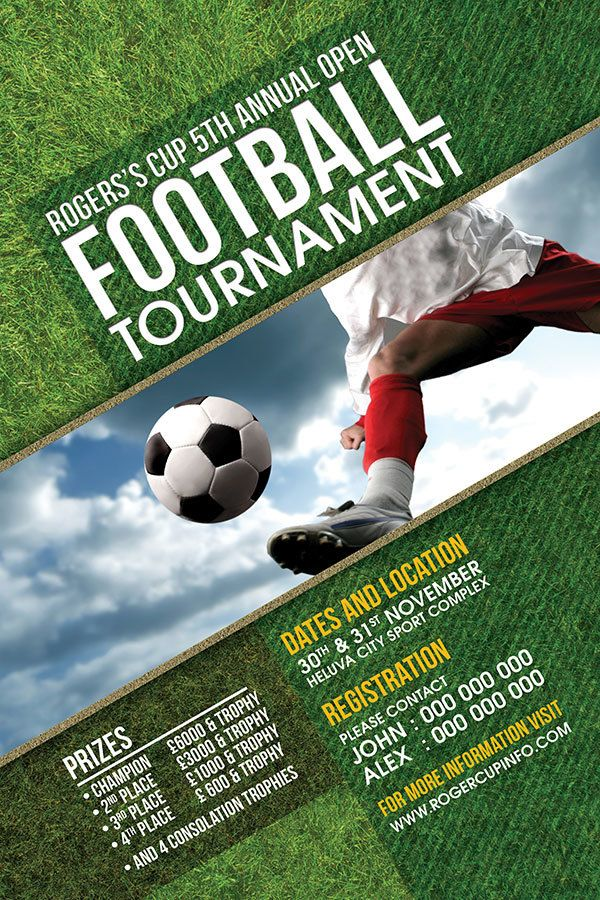 Football Tournament Flyer Template Yeniscale