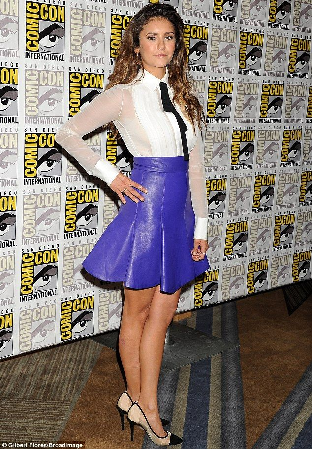 Geek chic: Promoting her new film Let\'s be Cops, the brunette donned ...