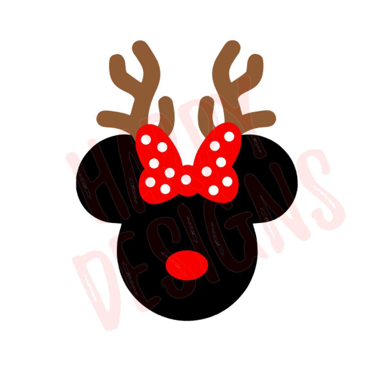 Christmas Minnie Mouse Svg.Reindeer Minnie Svg Christmas Svg Minnie Mouse Ears Svg