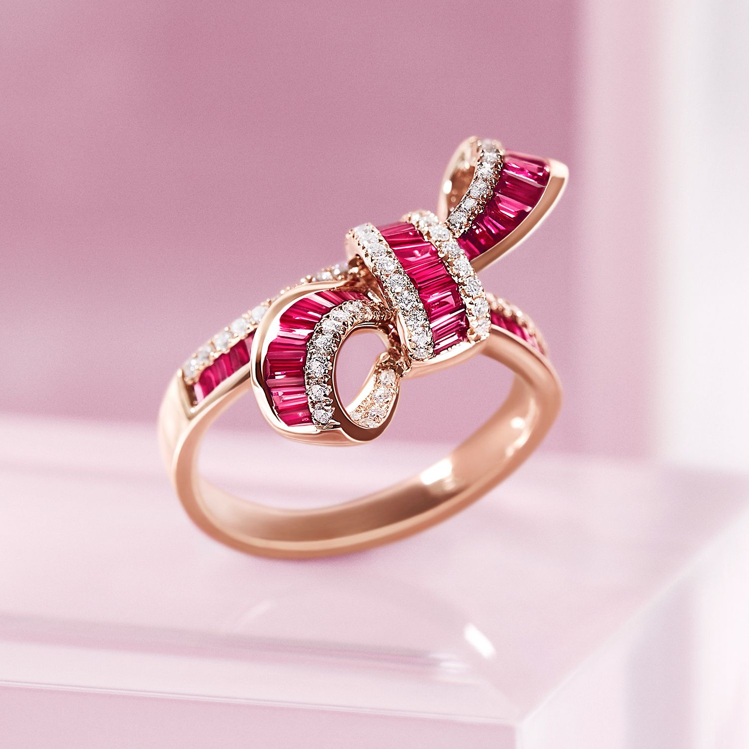 Put a bow on it. Especially when it\'s made of rubies and diamonds ...