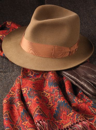 2957d64fb8b91 Barbisio Rabbit Fur Felt Fedora in Nutmeg
