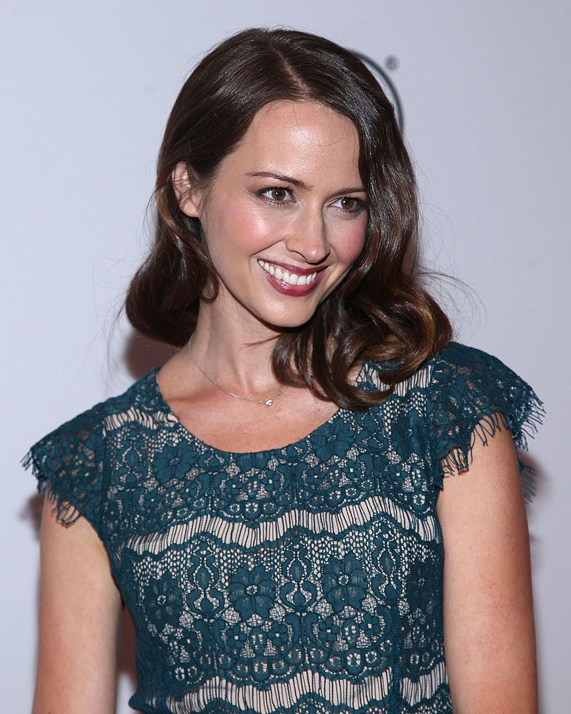 Actress Amy Acker attends the Person of Interest panel