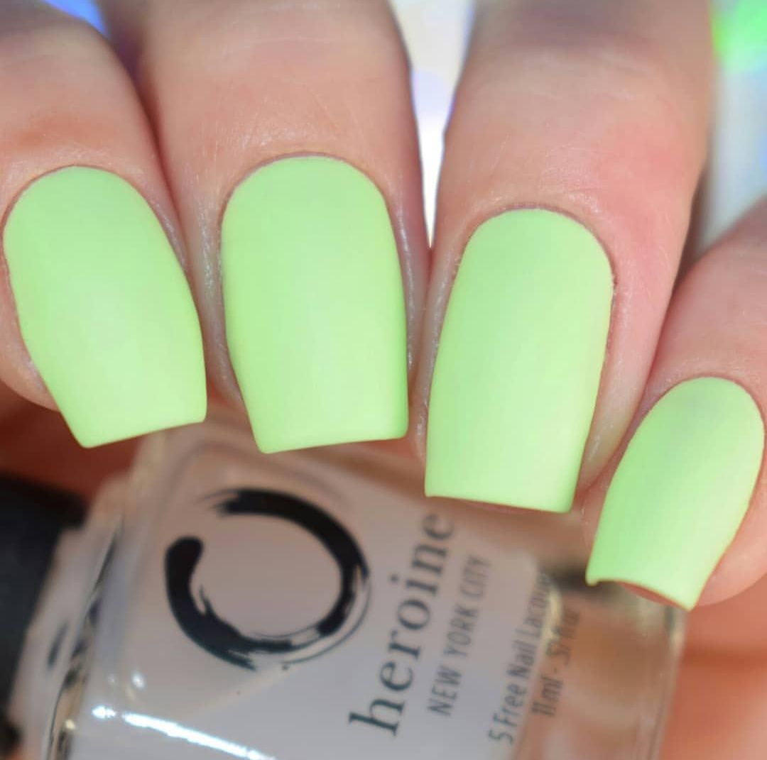Her Matte Jesty Matte Topcoat Neon Green Nails Green Nails Nails