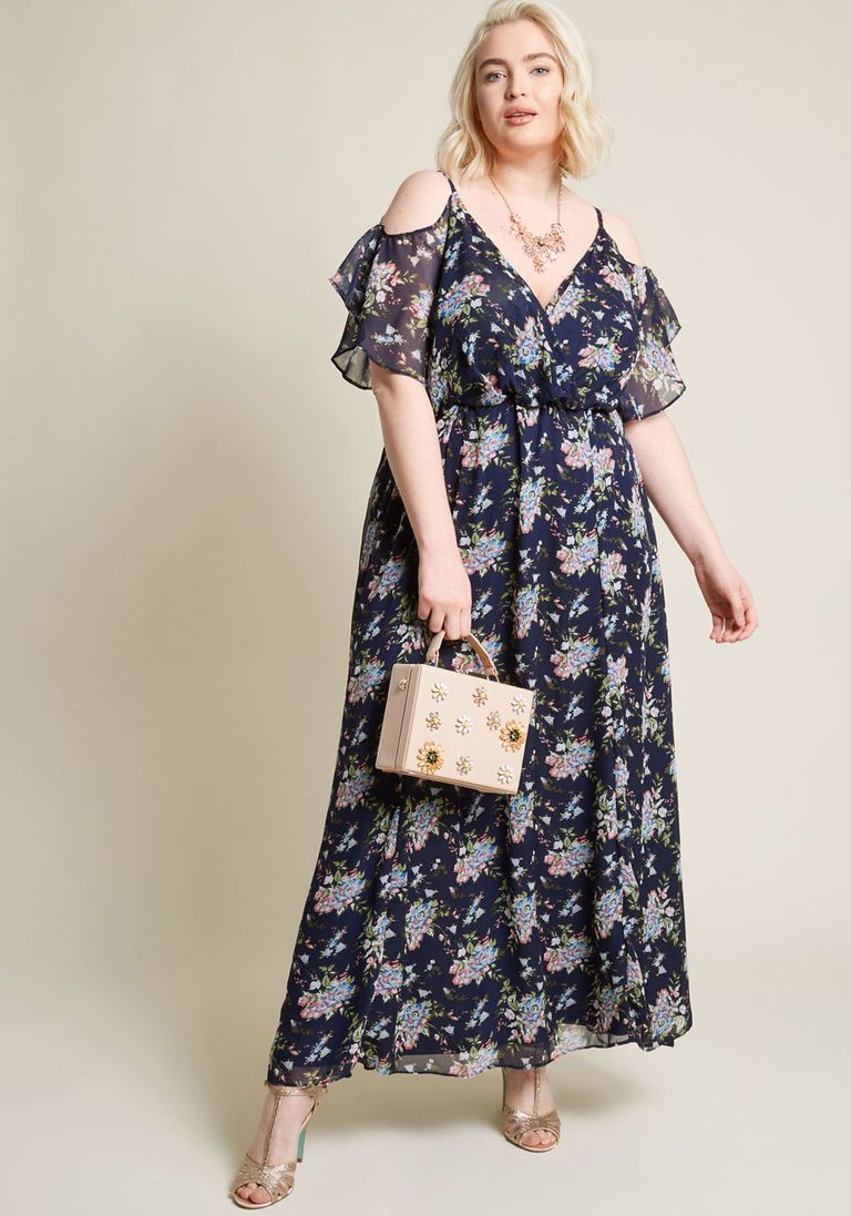97b6afd1d53 Wonder and Wow Maxi Dress in 3X - Cold Shoulder