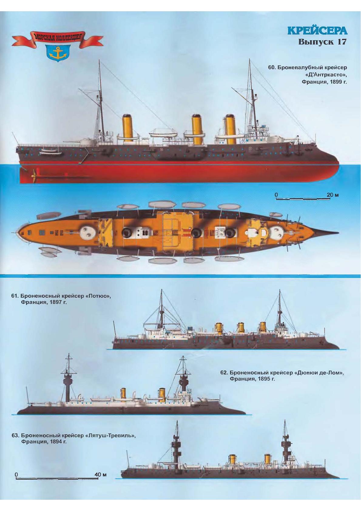 D'Entrecasteaux Protected Cruiser Battleship, Model