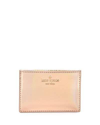 KATE SPADE Rainer Lane Card Holder, Rose Gold. #katespade #bags #pvc #accessories #cardholder #