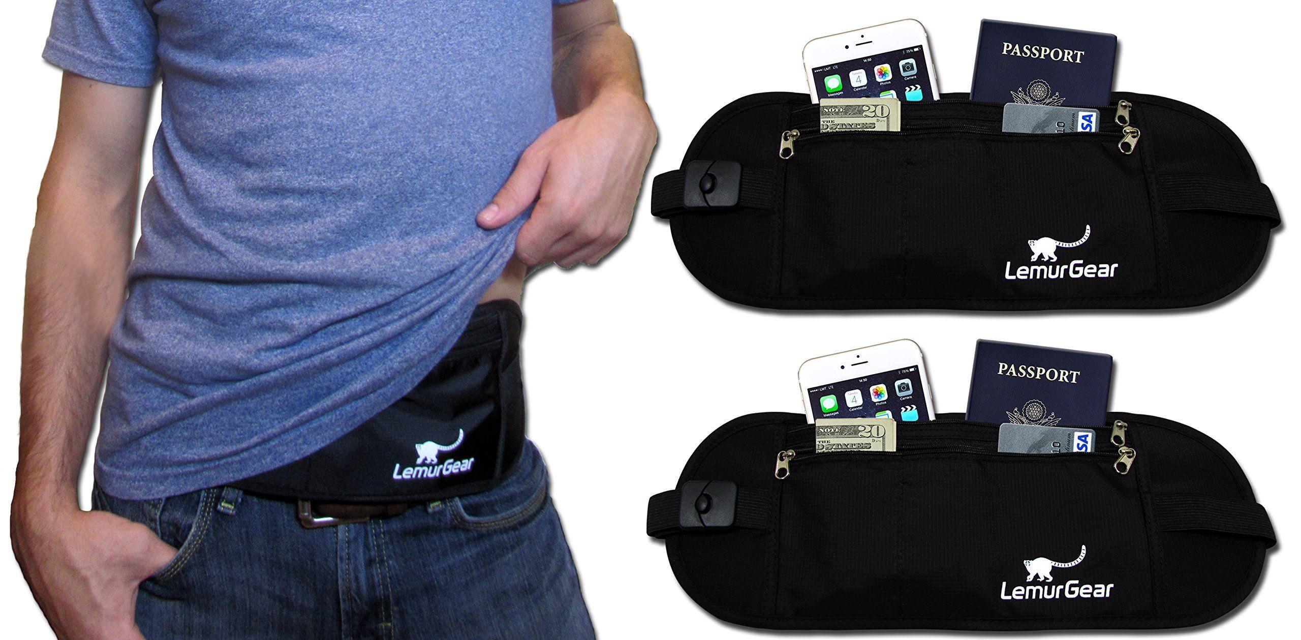 Amazon.com: RFID Blocking Passport Holder Money Belt, Travel Wallet, Waist Pack Beige: Clothing
