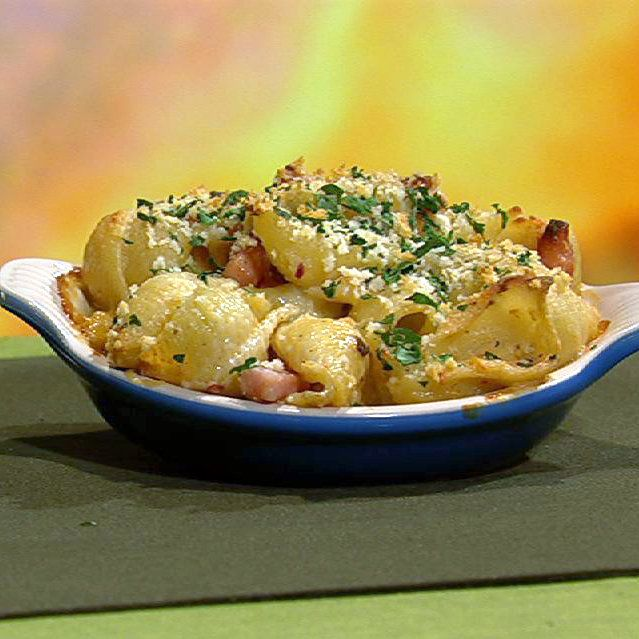 michael symon mac and cheese with cauliflower