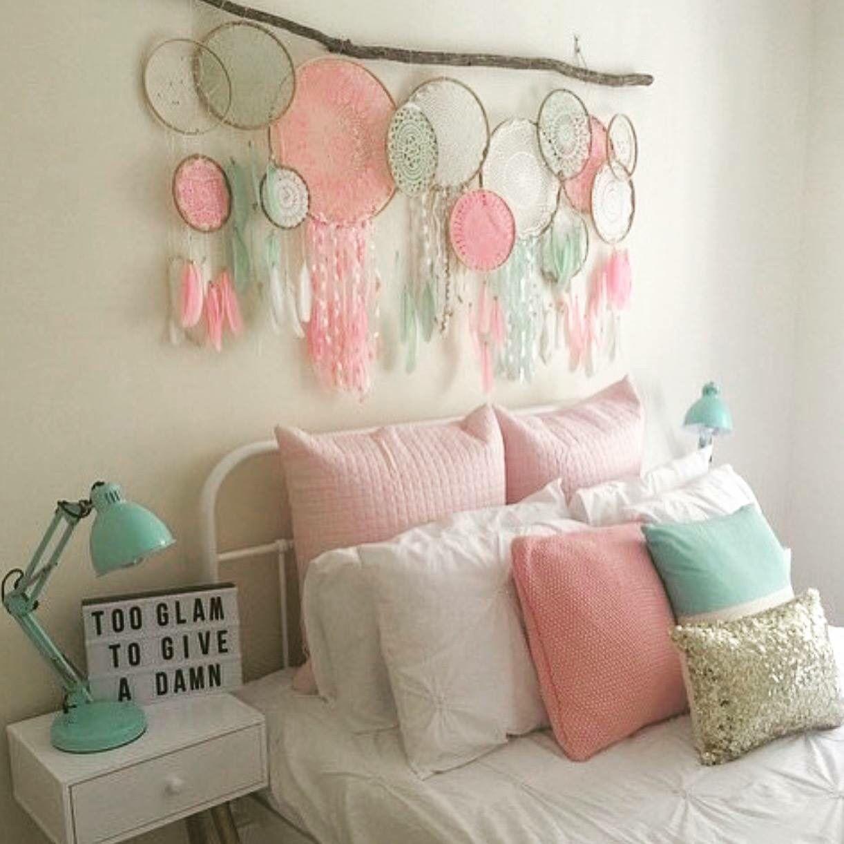 Beautiful dream catchers  Diy girls bedroom, Bedroom wall decor