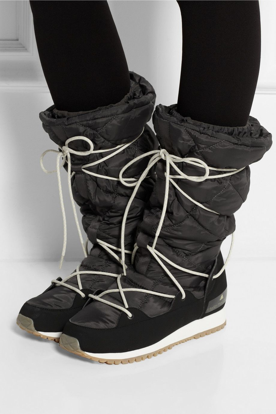 Adidas by Stella McCartney | Fleece-lined faux suede and shell ski boots