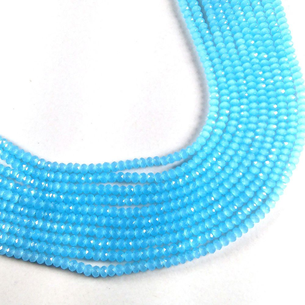 Micro Faceted Chalcedony Beads Making Jewelry. 3-3.5mm Hydro Beads 13 Long Chalcedony Strands Chalcedony Beads Green Chalcedony Hydro