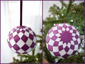 Como Hacer Esferas De Papel Para Navidad Esferas De Papel Manualidades Cosas De Navidad