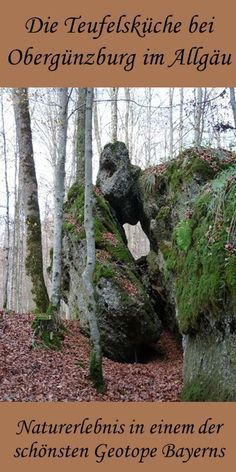 Photo of Not only great for children: the geotope devil's kitchen near Obergünzburg