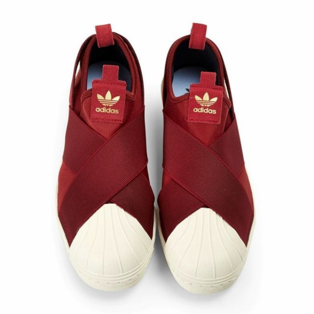 cheaper 7a50b b3d82 Adidas Superstar Slip On Red
