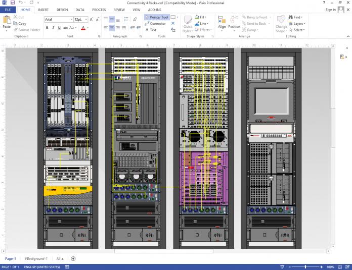 Server Rack Diagram Connectivity Diagram Large In 2020