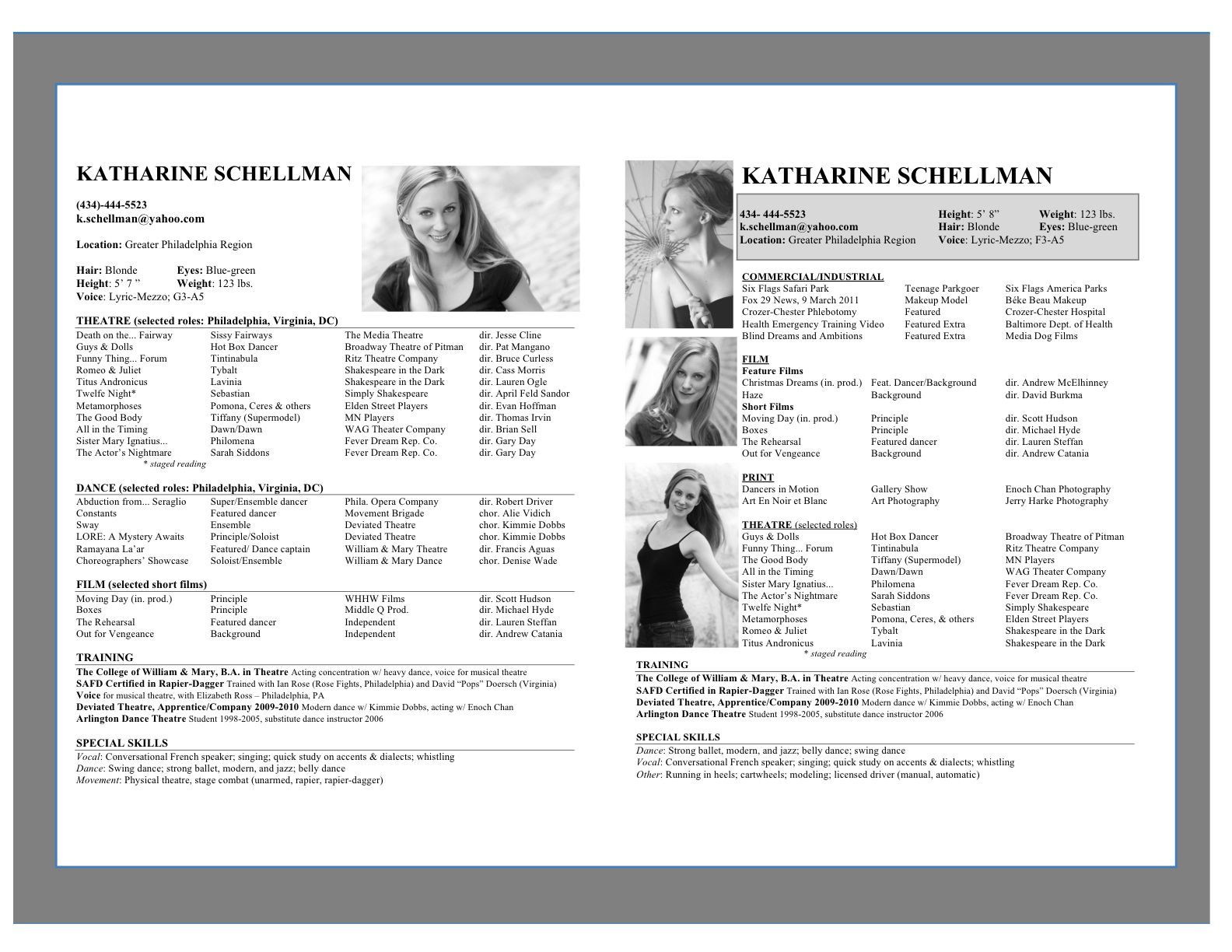 Pin by conny on acting good resume examples acting