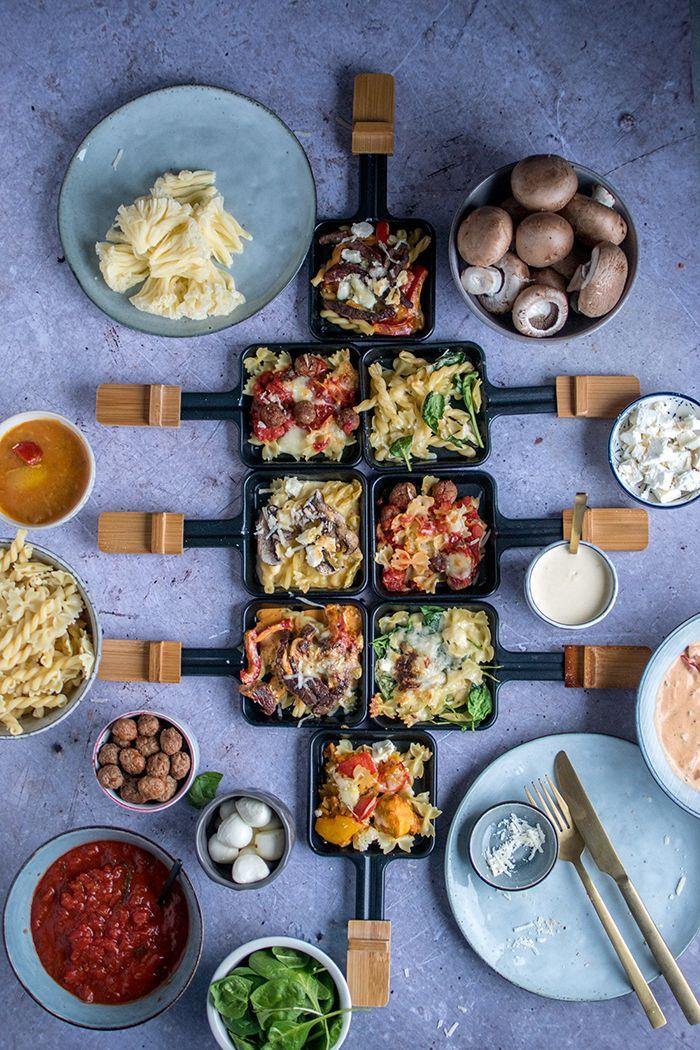 raclette pasta party 4 saucen f r das pasta pf nnchen. Black Bedroom Furniture Sets. Home Design Ideas