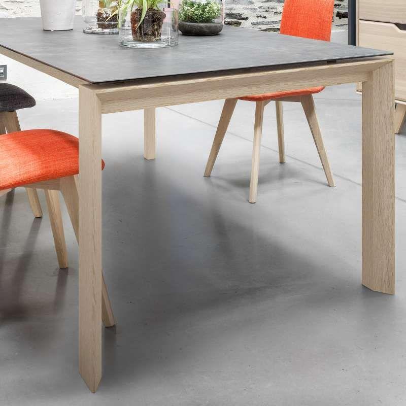 Table de salle à manger extensible en céramique rectangulaire - Cera ...
