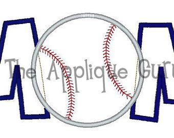 Ball Mom Applique Machine Embroidery Design 5x7 and 6x10