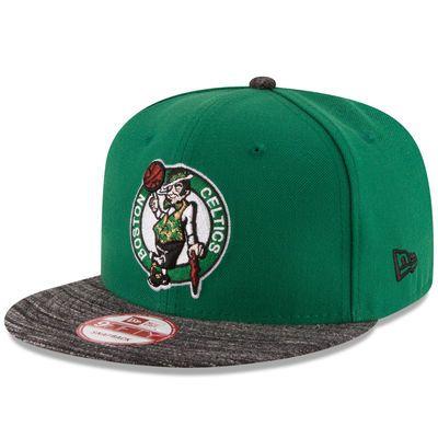 new product 982e8 d9177 Boston Celtics New Era Current Logo Team Solid 9FIFTY Snapback Adjustable  Hat - Green Black