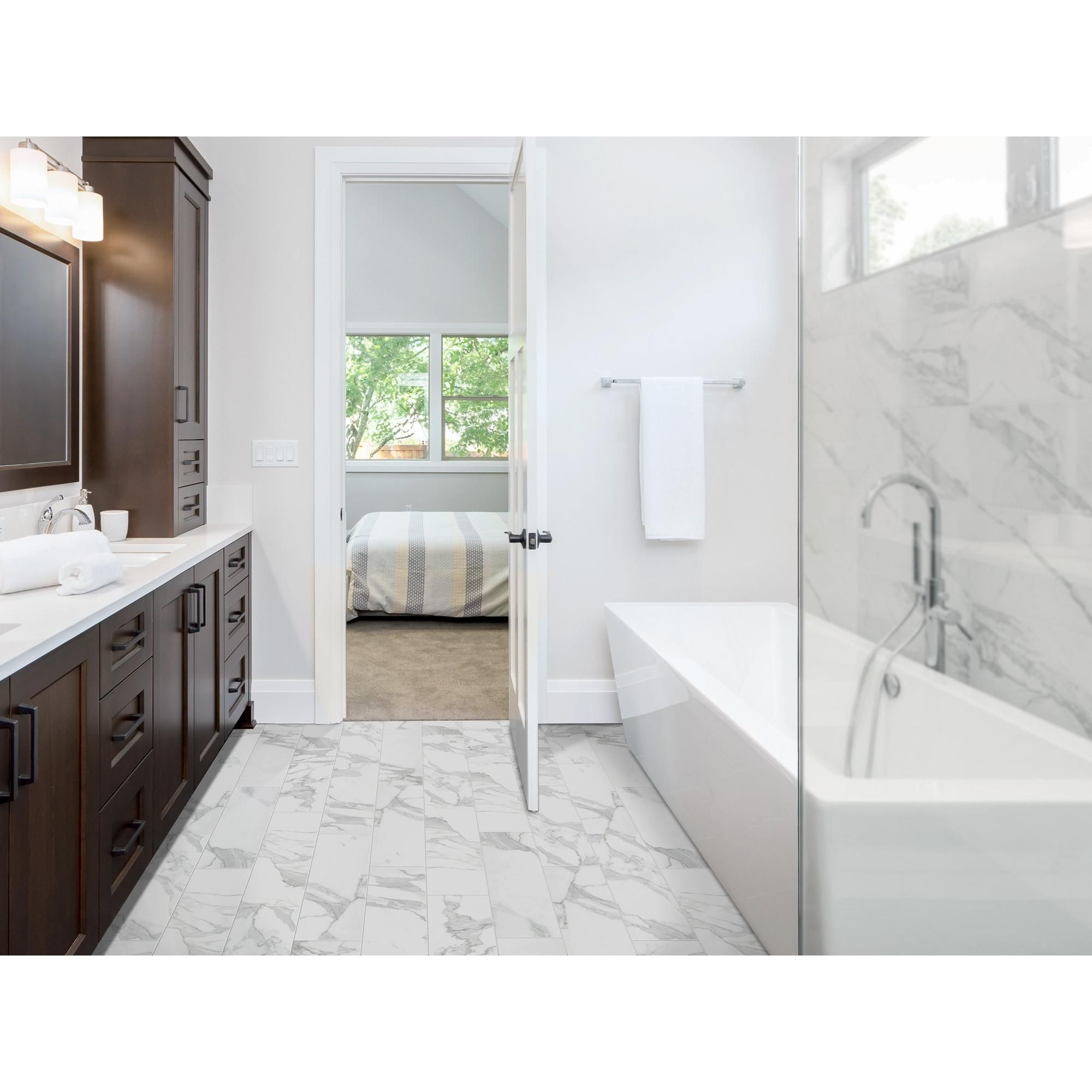 Providence Bianco Wood Plank Porcelain Tile 8in X 32in