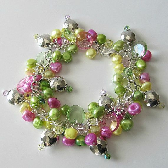 Pearl bracelet vintage lucite pearls and by PacificJewelryDesign, $72.00