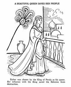 Ester Bible Story Coloring Page | VBS | Bible coloring pages ...