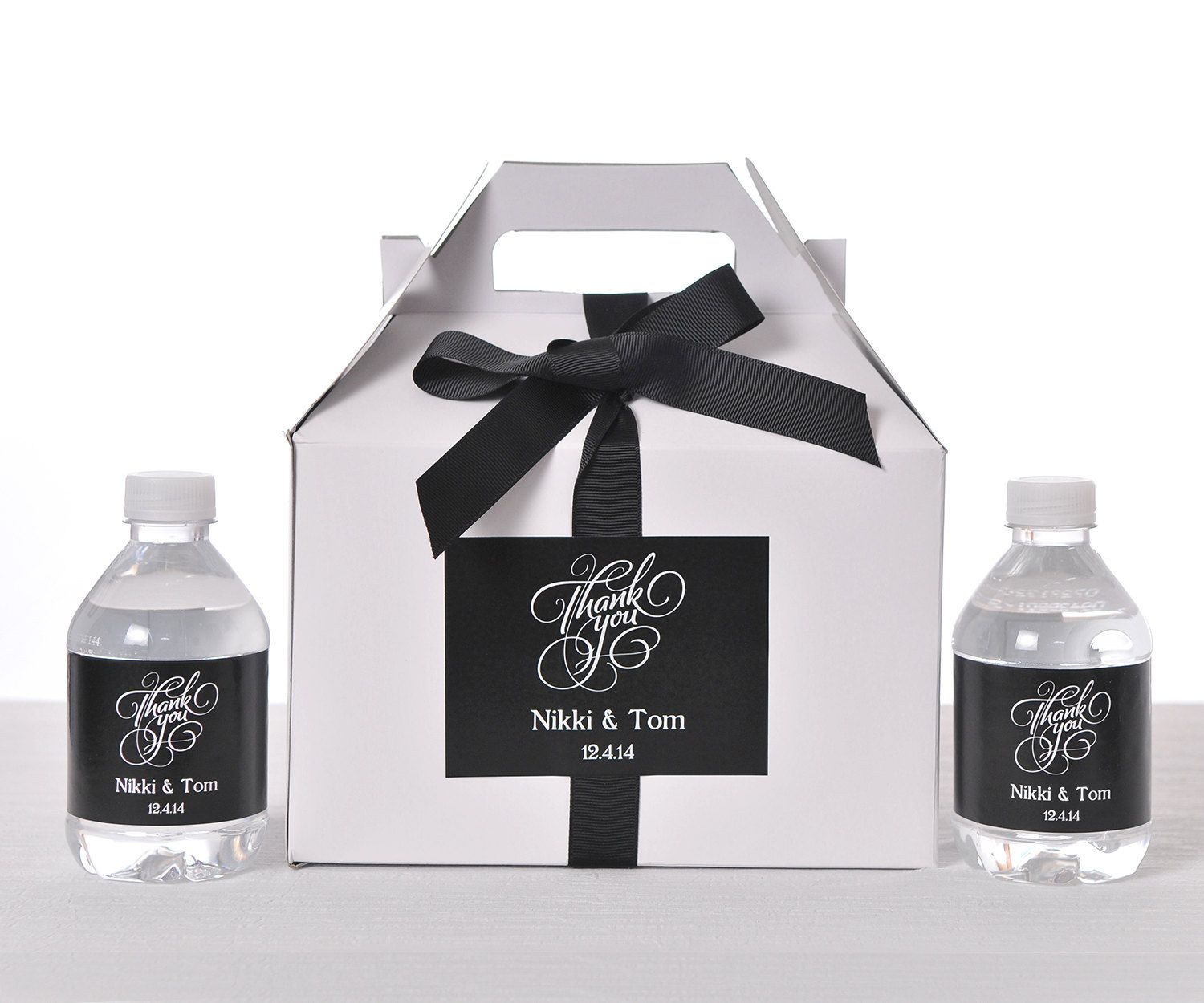 25 Wedding Favor Box / Welcome Box Labels Gable by LabelsRus, $75.00 ...