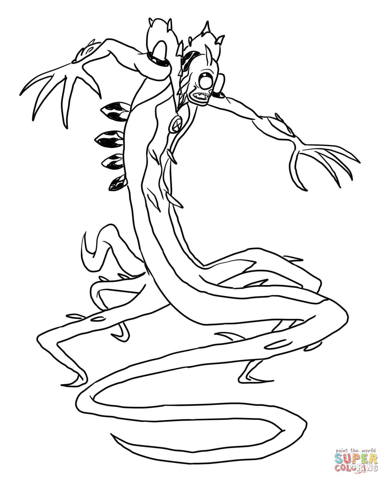 Ben 10 Wildvine Coloring Page From Ben 10 Category Select From