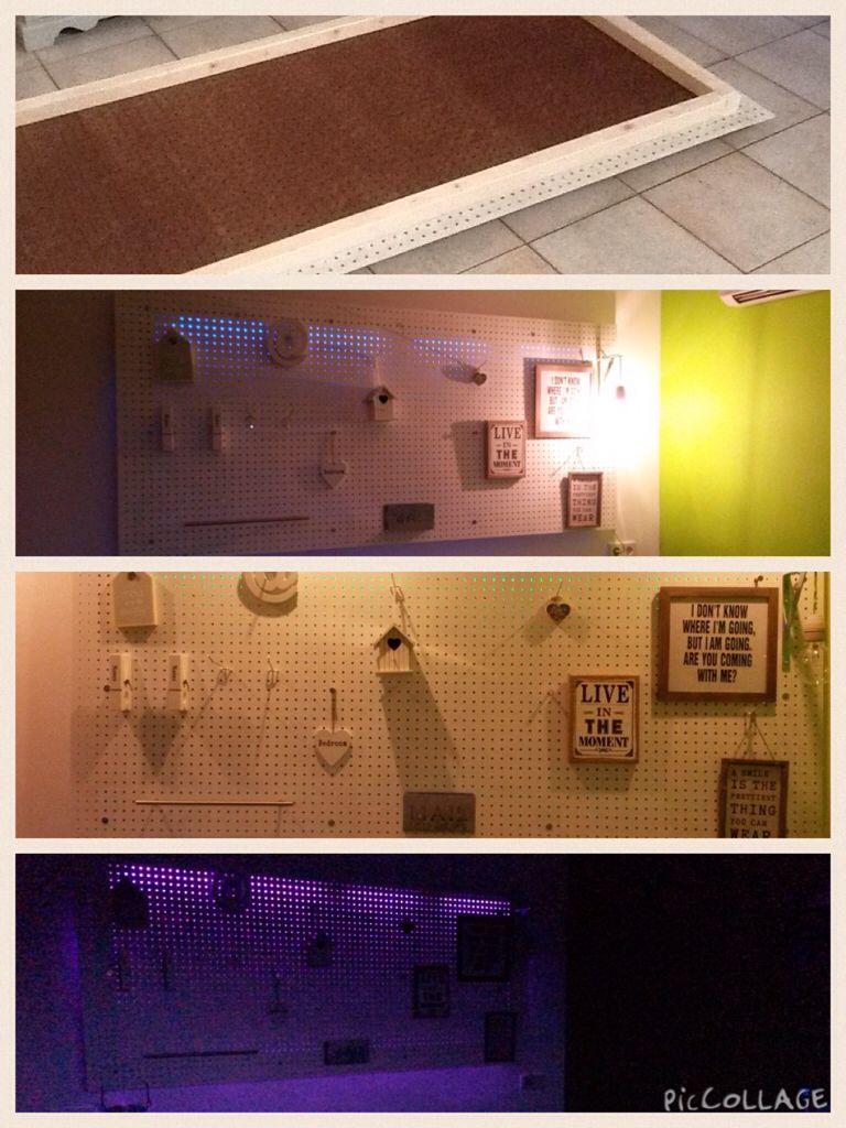 Zelf maken: Wandbord met led-verlichting in verschillende kleuren ...