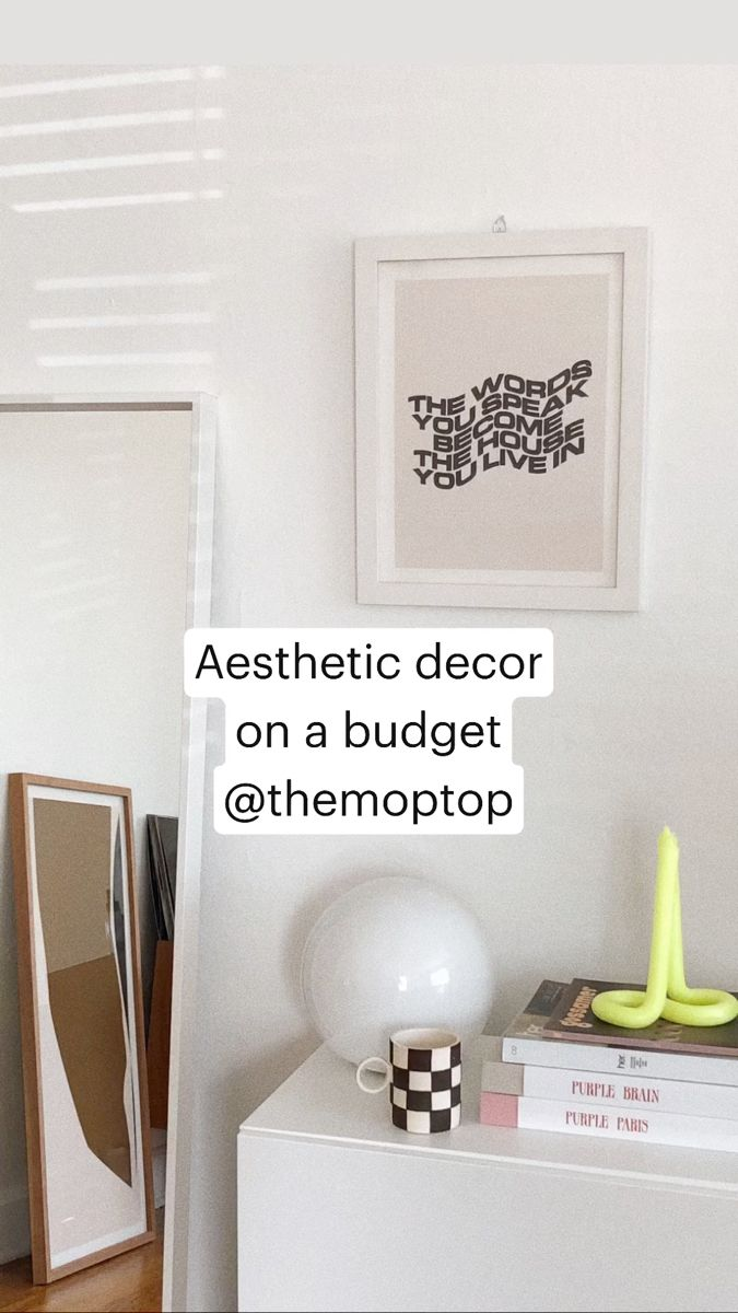 Photo of Aesthetic Decor On A Budget! @themoptop
