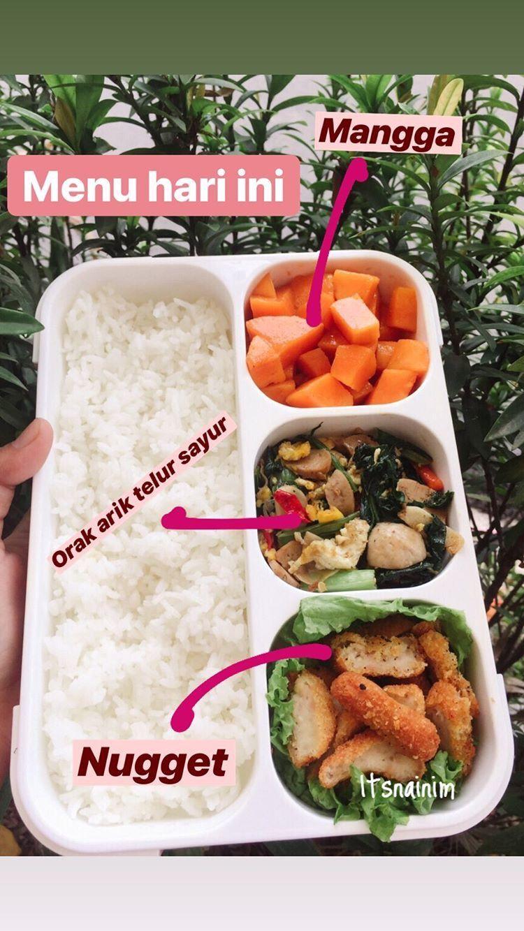 Lunch Box Ala Itsna Ide Makanan Fotografi Makanan Makanan Sehat