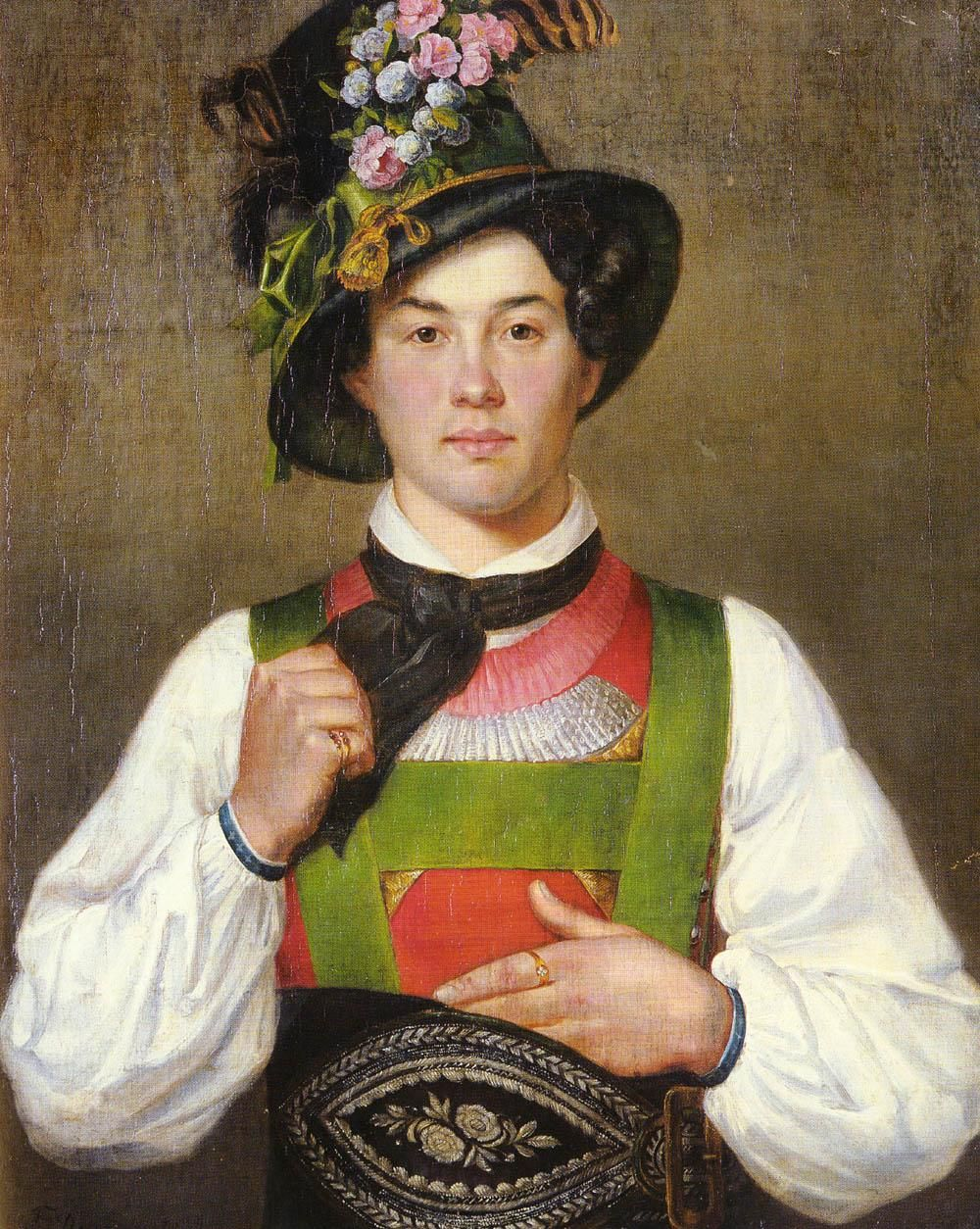 Image result for austrian folk costume man painting