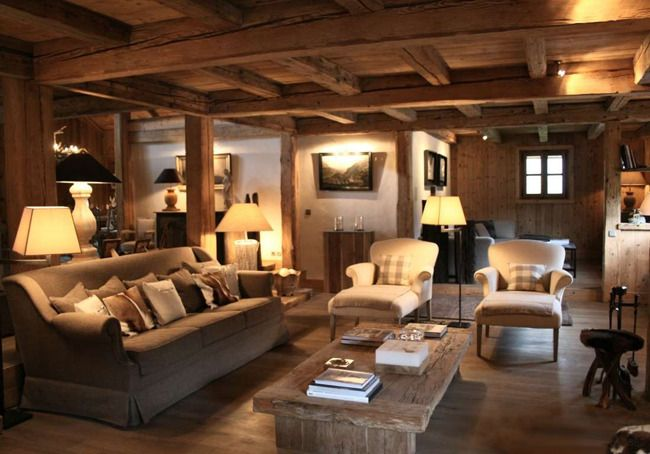 While we all wish we could escape to our own private mountain lodge for the w - Decoration style chalet ...