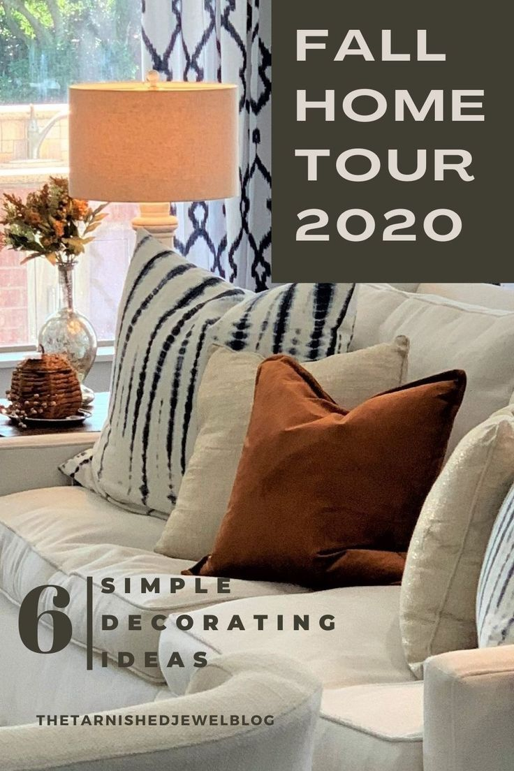 Looking for quick fall decorating ideas, easy diy projects, & fall home tour trends all wapped into one? Check out 6 Simple Decorating Ideas: Fall Home Tour 2020 by thetarnishedjewelblog.com. #fallhometour #fallhomedecor #fallhometrends #falldecor #fall2020 #falldecorations #falldecoratingideas #falldecoration #falldecorations #diyfalldecor #fallfarmhousedecor #fallcolors #fallfarmhouse #autumndecorations #pumpkin #pumpkinideas #fallpumpkins