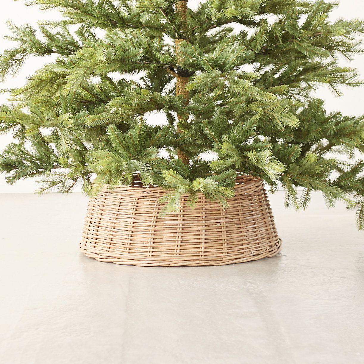 Wicker Basket Tree Skirt Christmas tree in basket, Best