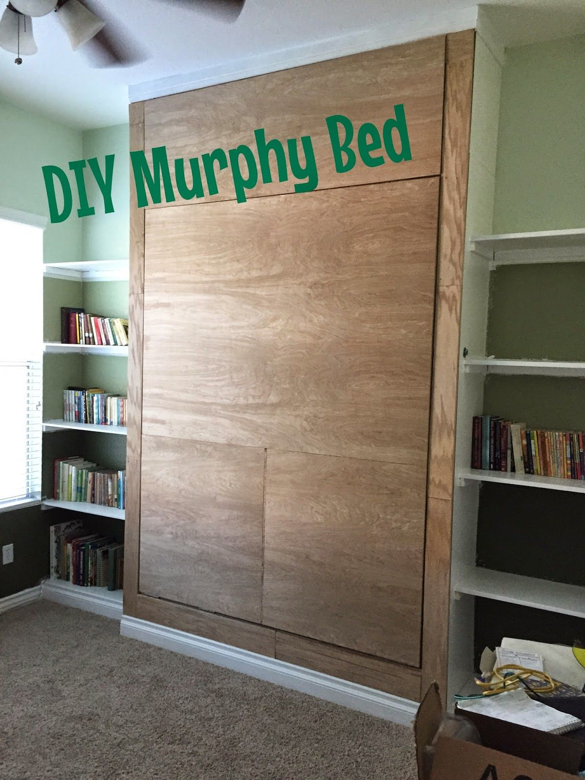 Murphy bed design plans -  Junk In Their Trunk Diy Murphy Bed Wall Bed Learn How