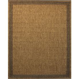 Portfolio Arena Chestnut Rectangular Indoor Outdoor Machine Made Inspirational Area Rug Common 8 X 10 Actual 7 87 Ft