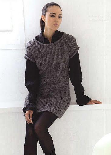 Короткое платье/туника из Filati Handknitting № 45 2011 - Елена Антонова - Веб-альбомы Picasa