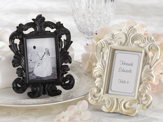 Elegant Wedding Favors Place Card Holders And Photo Frames White
