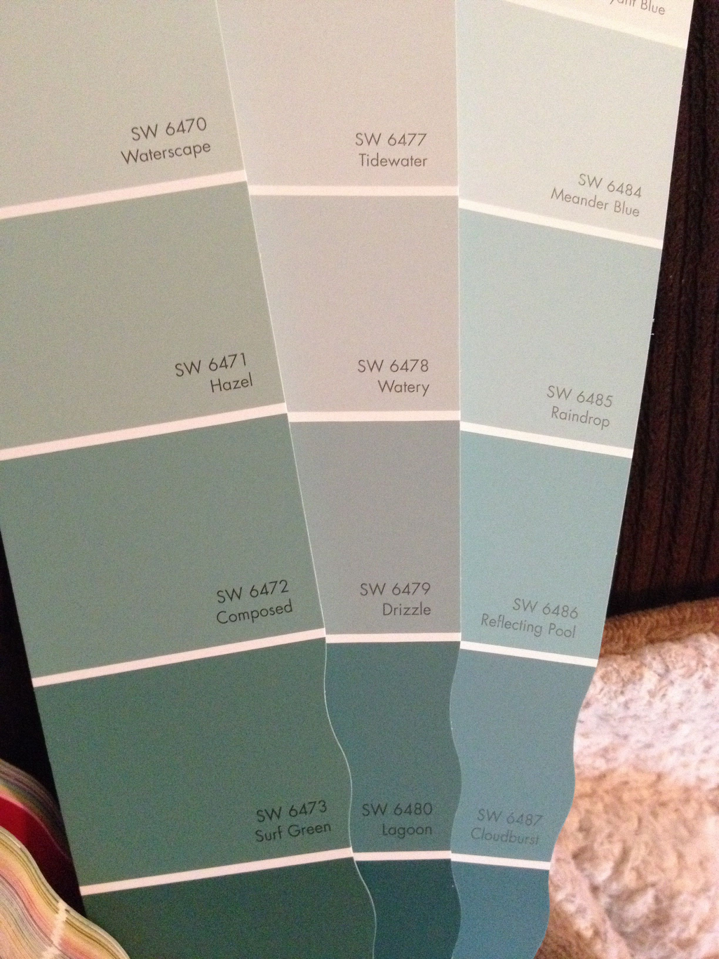 Possible dining room colors sherwin williams hazel for Watery paint color