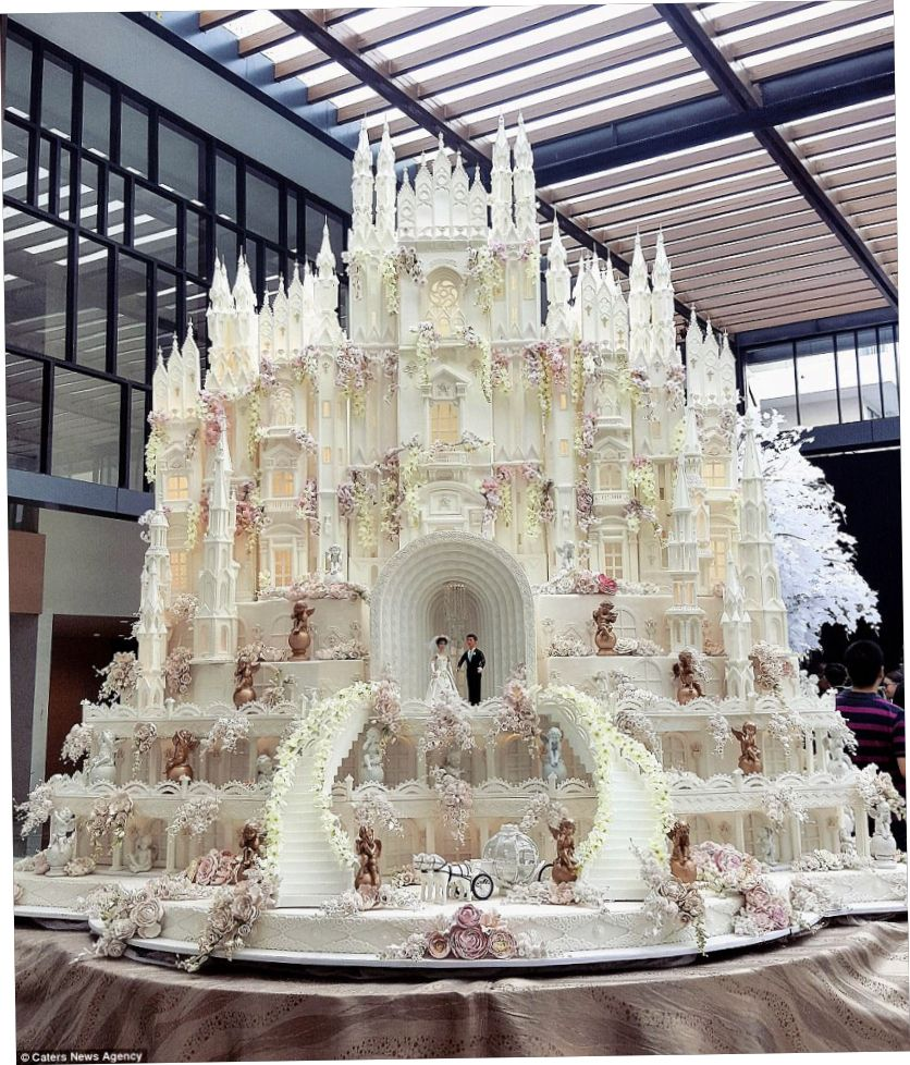 Most Expensive Wedding Cake Castle Wedding Cake Extravagant Wedding Cakes Amazing Wedding Cakes